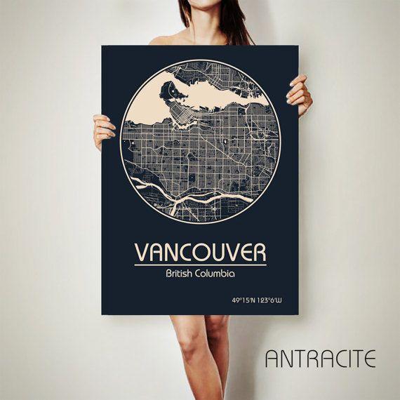Vancouver canada canvas map vancouver canada poster city map vancouver canada canvas map vancouver canada poster city map gumiabroncs Image collections