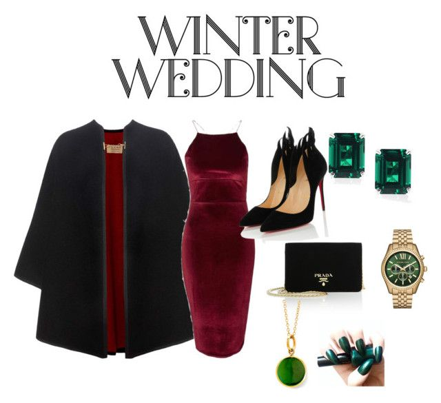 """""""Untitled #12"""" by keilissa on Polyvore featuring Burberry, Topshop, Christian Louboutin, Prada, CARAT* London, Michael Kors and Syna"""