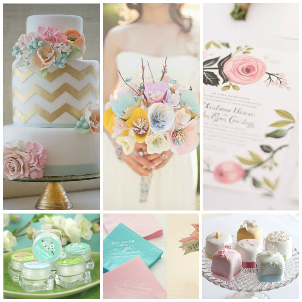 Pastel Wedding Theme I actually think the paper flower boquet is ...