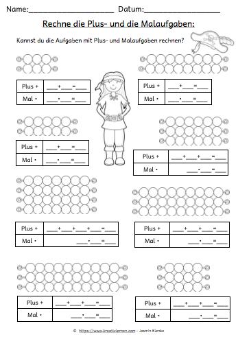 multiplizieren lernen plus und malaufgaben im vergleich mathematik multiplikation. Black Bedroom Furniture Sets. Home Design Ideas