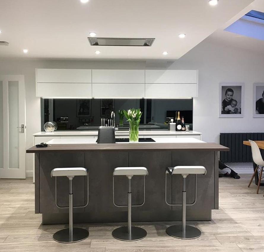 We love this modern kitchen from one of our customers