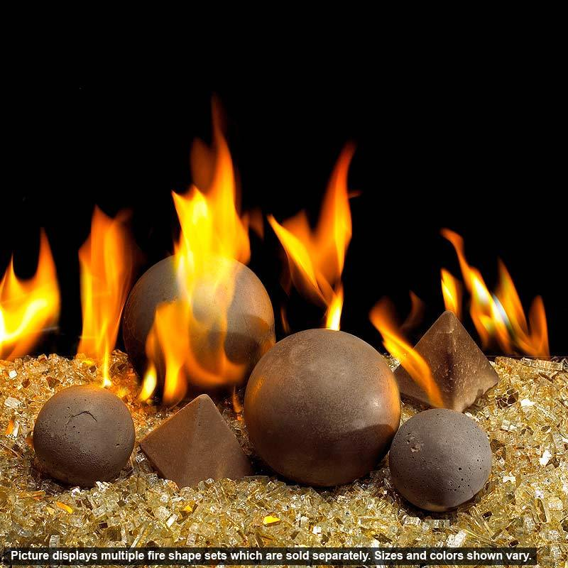 Real Fyre Geo 4 Sided Pyramid Fire Shapes Gas Fireplace Logs Fireplace Glass Rocks Fire Pit