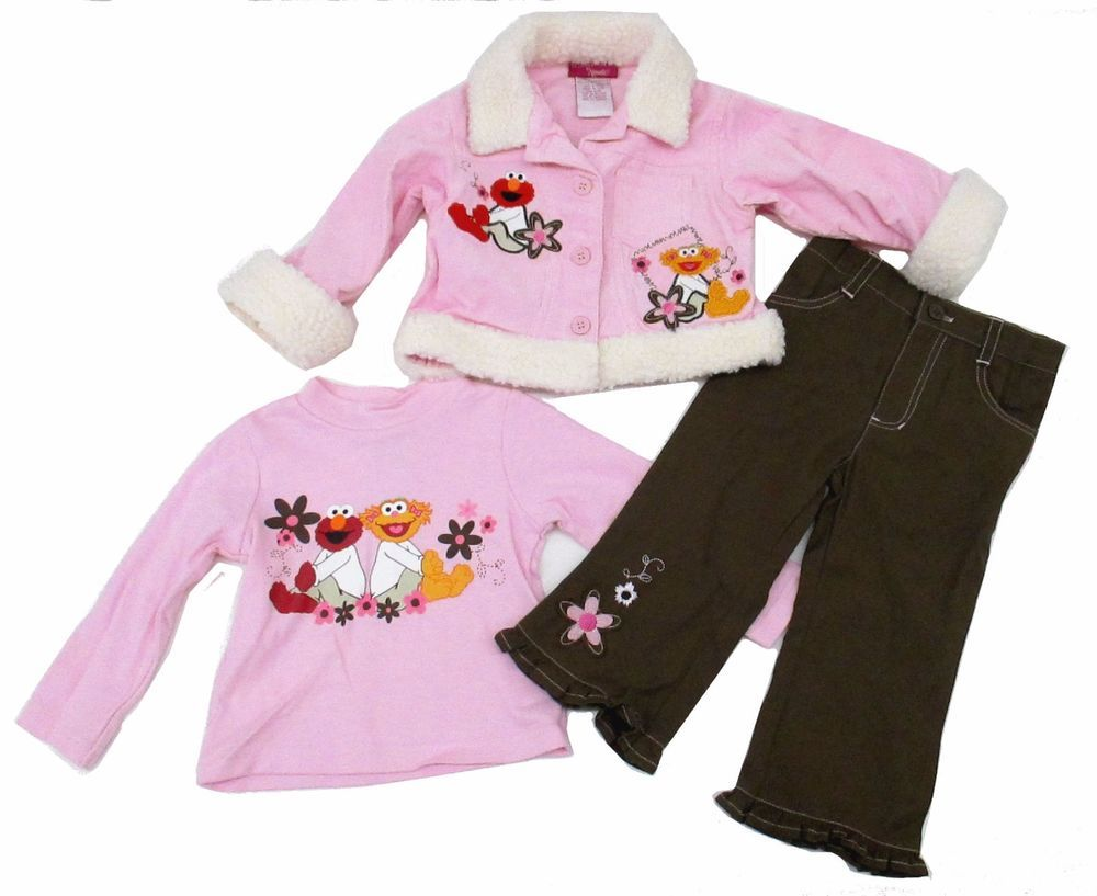 2//3Pcs Toddler Kids Baby Girls Winter Outfits Set Long Sleeve T-Shirt Tops Pants