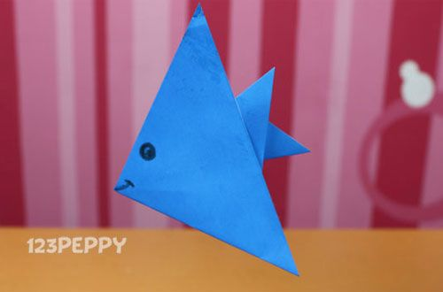 Another Fish Much Love Such Blue Fingers Still Hurt Origami Fish Paper Fish Fish Crafts