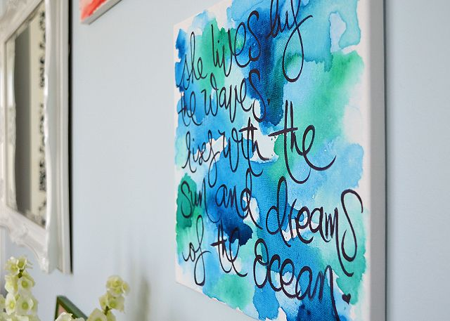 Watercolor Wall Art diy: watercolor wall art | pura vida bracelets, watercolor walls