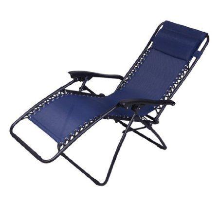 Amazon Com Outsunny Zero Gravity Recliner Lounge Patio Pool Chair Blue Patio Lawn Garden Outdoor Recliner Pool Chairs Zero Gravity Recliner