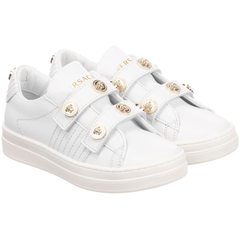 young girls white trainers