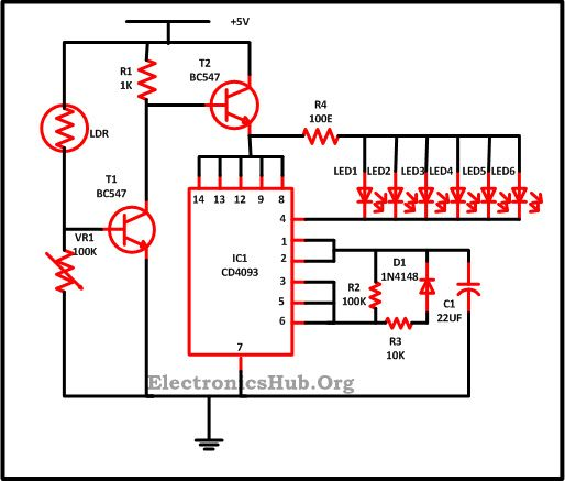 LED Christmas Lights Circuit Diagram and Working | Mini Projects ...