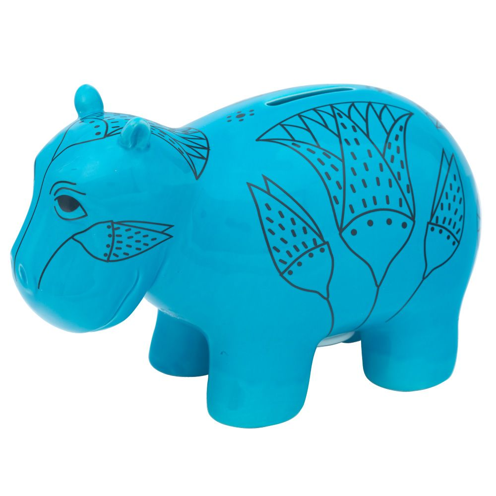 Take the unofficial mascot of The Metropolitan Museum of Art, William, home with our William the Hippo Bank. Inspired by an ancient Egyptian artifact from the Museum's collection, our loving interpretation is decorated with plants of the Nile River.