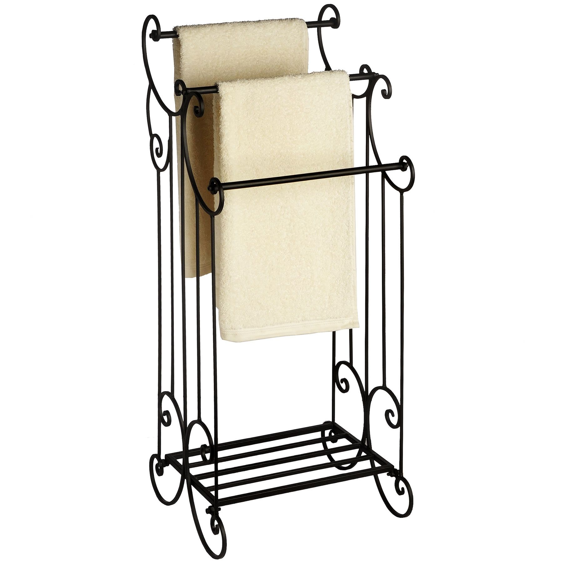 Hill Interiors Elaborate Victorian Freestanding Towel Rack & Reviews ...