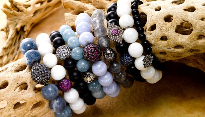 bead bracelet img white gemstone beads jewelry casual chain skull fashion