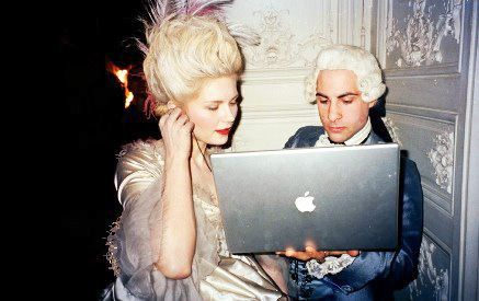 "so many favorites about this portrait: marie antoinette, jason, 17"" macbook pro, music listening party, etc..."