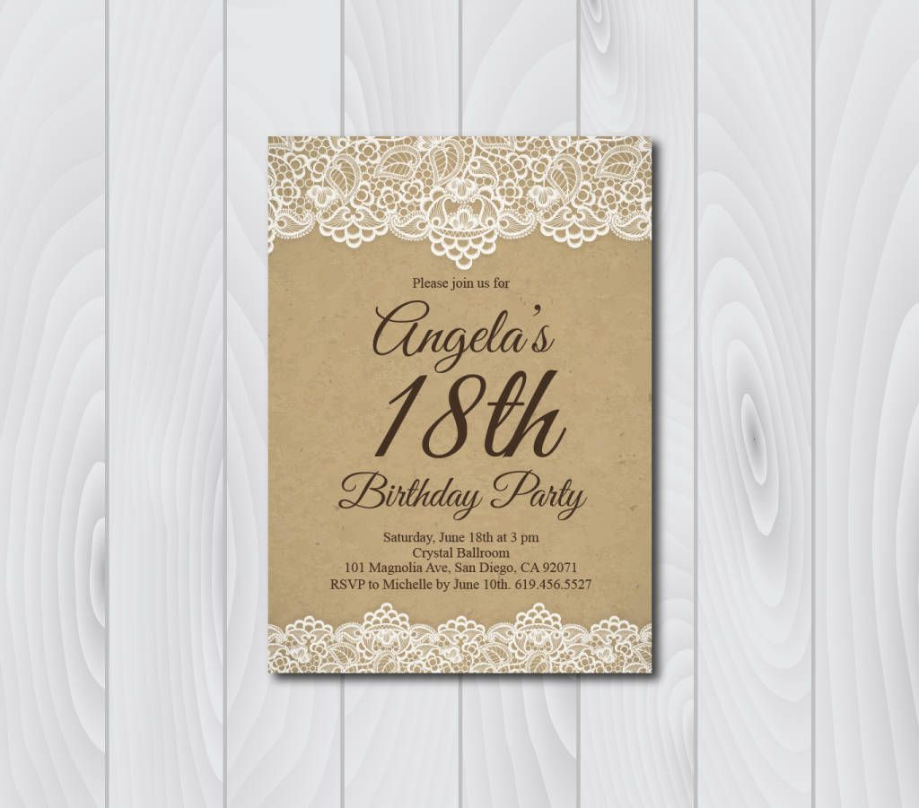 18th birthday invitationvintage birthday invitatione card 18th birthday invitationvintage birthday invitatione card invitation templatebirthday invitationeighteenth birthday card by blesseddaypaper on etsy filmwisefo