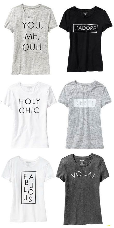 fab find french phrase graphic tees at old navy. Black Bedroom Furniture Sets. Home Design Ideas