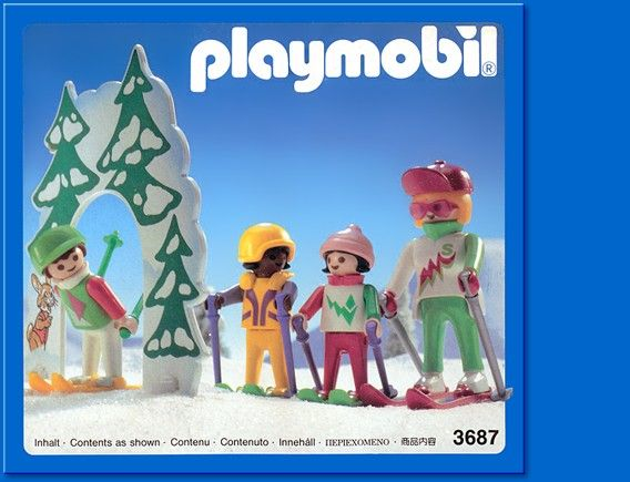 playmobil set 3687 ski school - Playmobil Ski