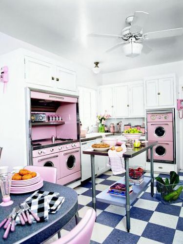 Nice Fall Back In Love With These Retro Kitchen Decorating Ideas