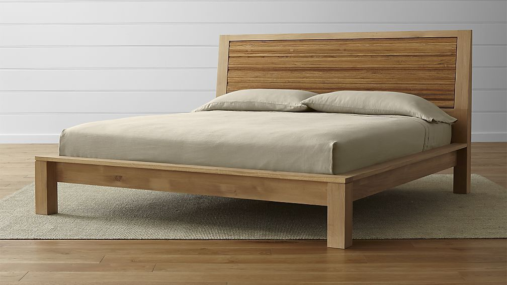 Sierra King Bed $1799 / King Crate & Barrel | bedroom | Pinterest ...