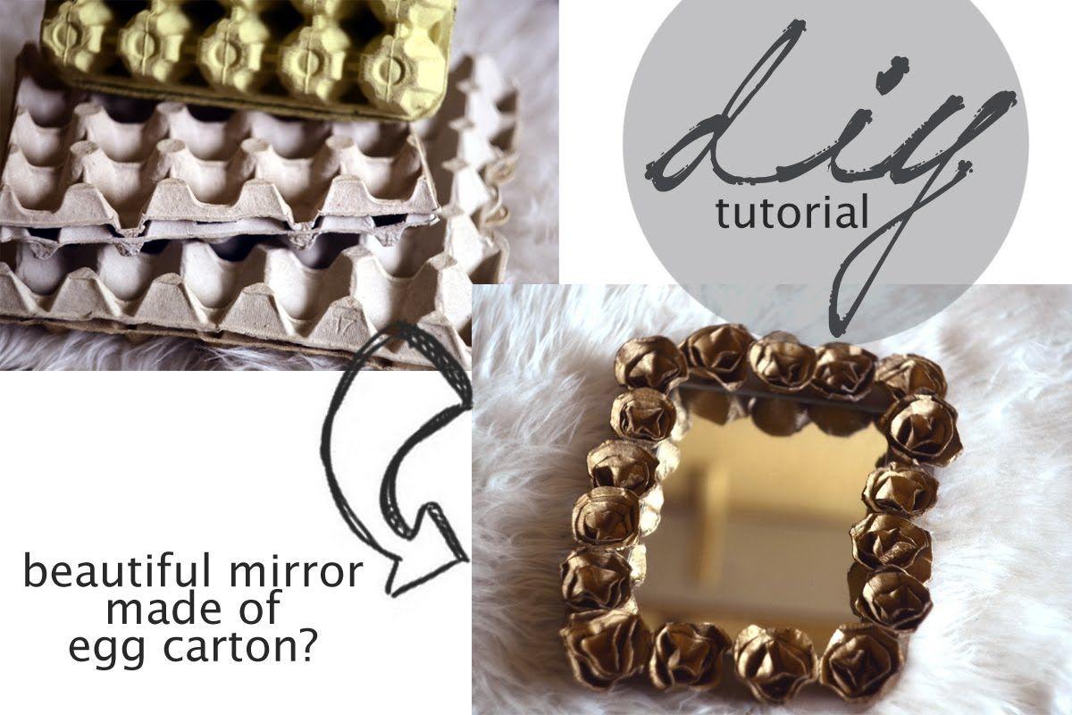DIY tutorial rose mirror frame of