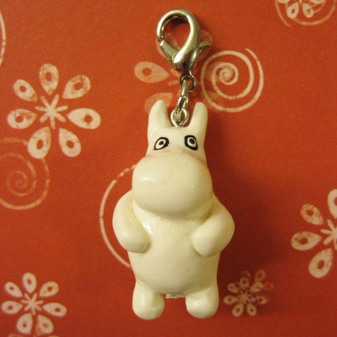 Polymer clay Finnish author Tove Jansson Moomin character charm by AnniCrafting on Etsy