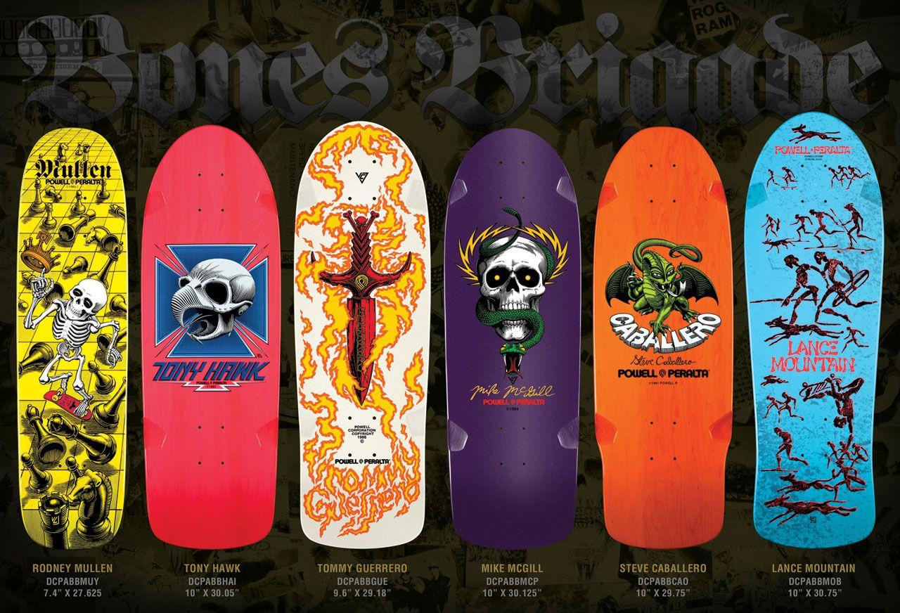 Logos Mostly Bones vtg 1980s 1990s Powell Peralta skateboards sticker