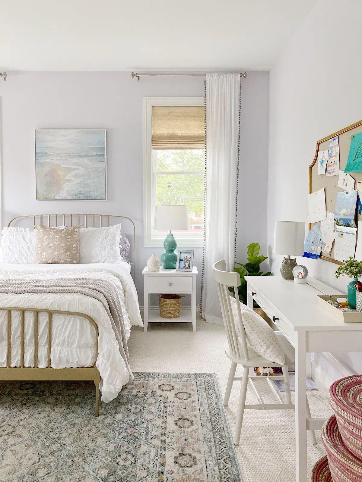 Summer Bedroom Home Tour Life On Cedar Lane In 2020 Cheap Living Rooms Cheap Living Room Decor Summer Bedroom