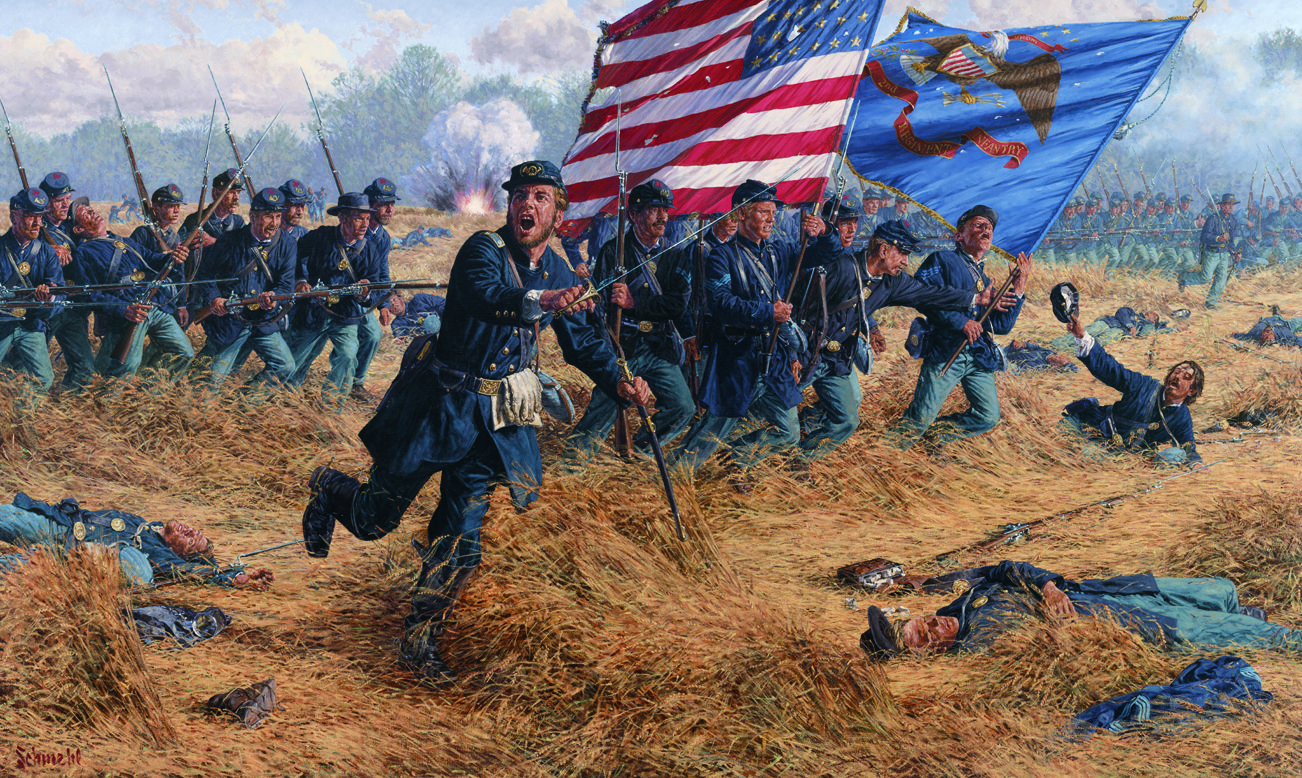 2nd Delaware Infantry Charges Into The Wheatfield