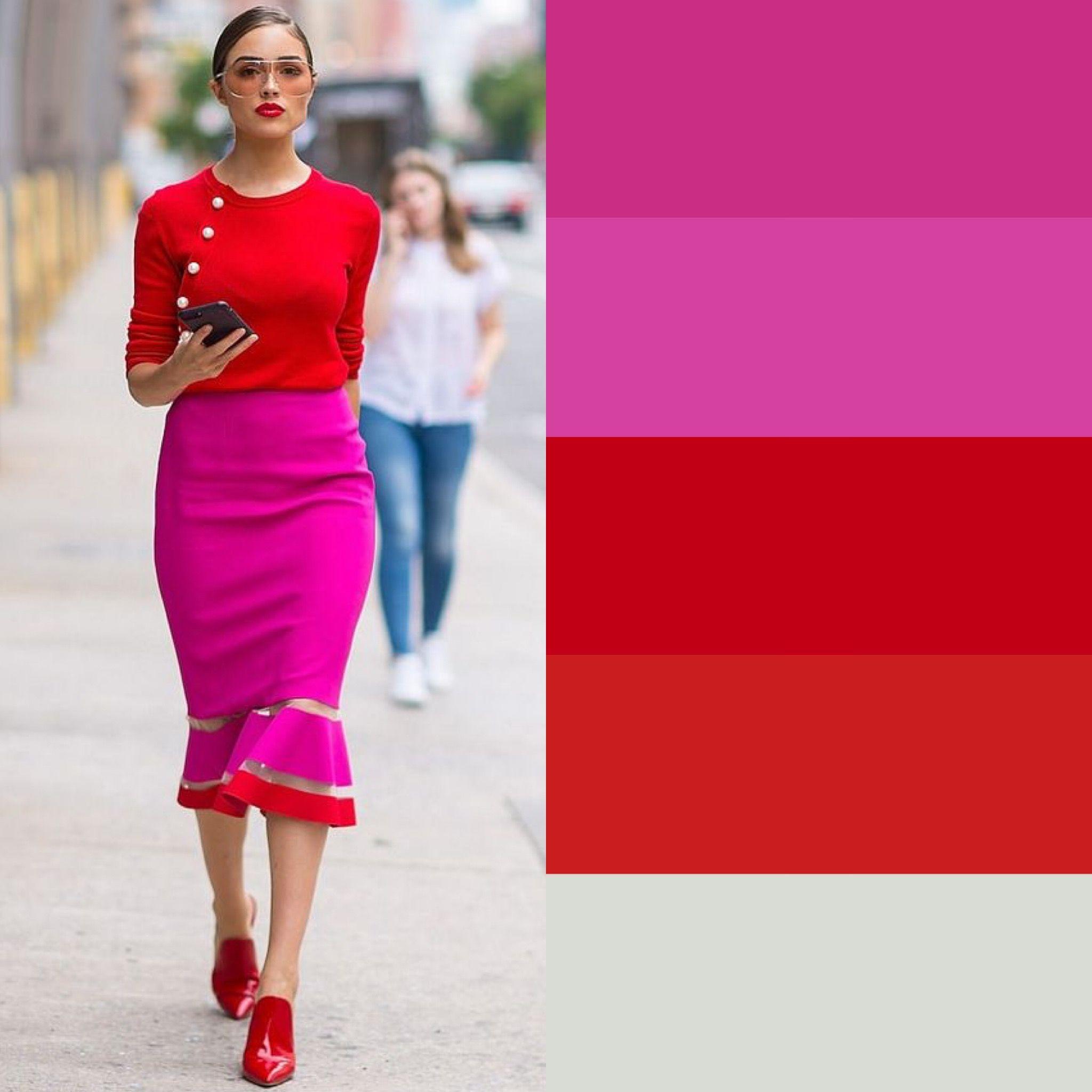 Colori Da Abbinare Al Rosa come indossare il rosso | vestiti colorati, abbigliamento
