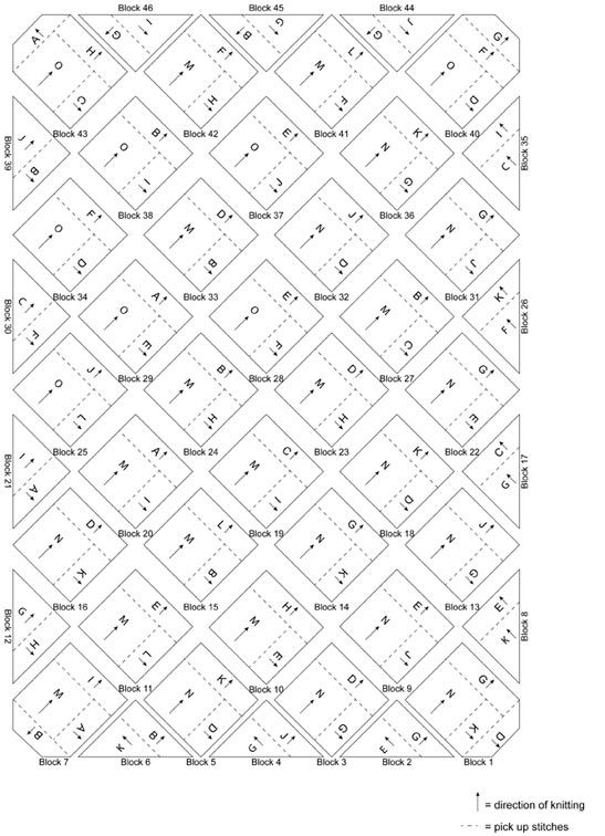 Free Knitting Pattern L40440 Cosmic Rainbow Afghan : Lion