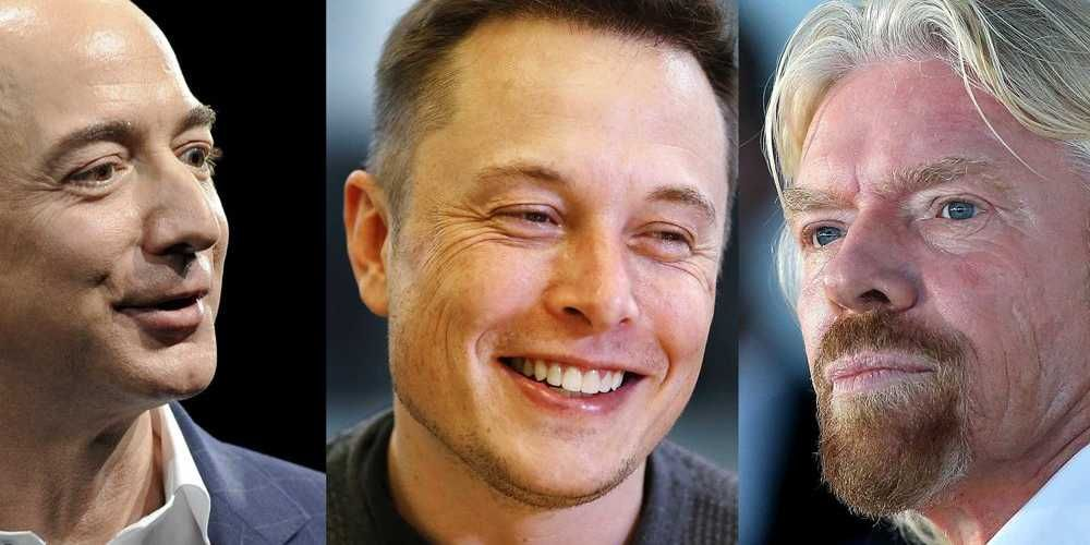 Here's What Elon Musk Thinks About The Space Projects Of Jeff Bezos And Richard Branson | Eliminate poverty, Richard branson, Elon musk