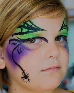 The Itsy Bitsy Spider For Eliza Pinterest Maquillaje Halloween - Maquillaje-infantil-de-bruja