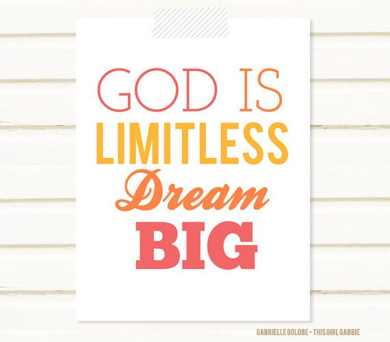 He made it all, so don't limit what He can do for you according to your imagination. Dream big, and show God how much you trust Him by asking great things of Him............... <3 Angela from www.calligraphybyangela.com
