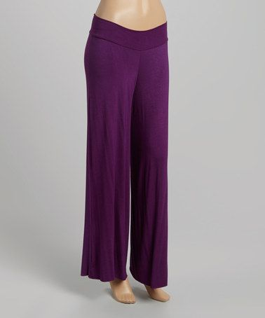 Another great find on #zulily! Eggplant Palazzo Pants #zulilyfinds