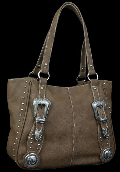 Tack By Wrangler Faux Leather Western Tote