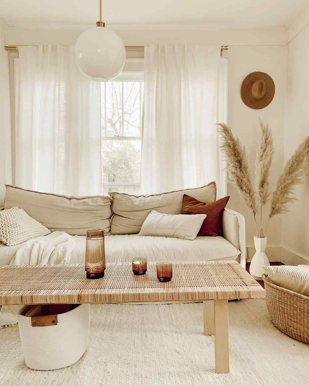 Spotlight On Fresh Ways To Decorate Your Space With Beige House Interior Boho Living Room Warm Home Decor #spotlight #in #living #room