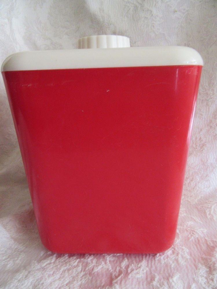 Vintage #RedLustroWare Canister Size No 112
