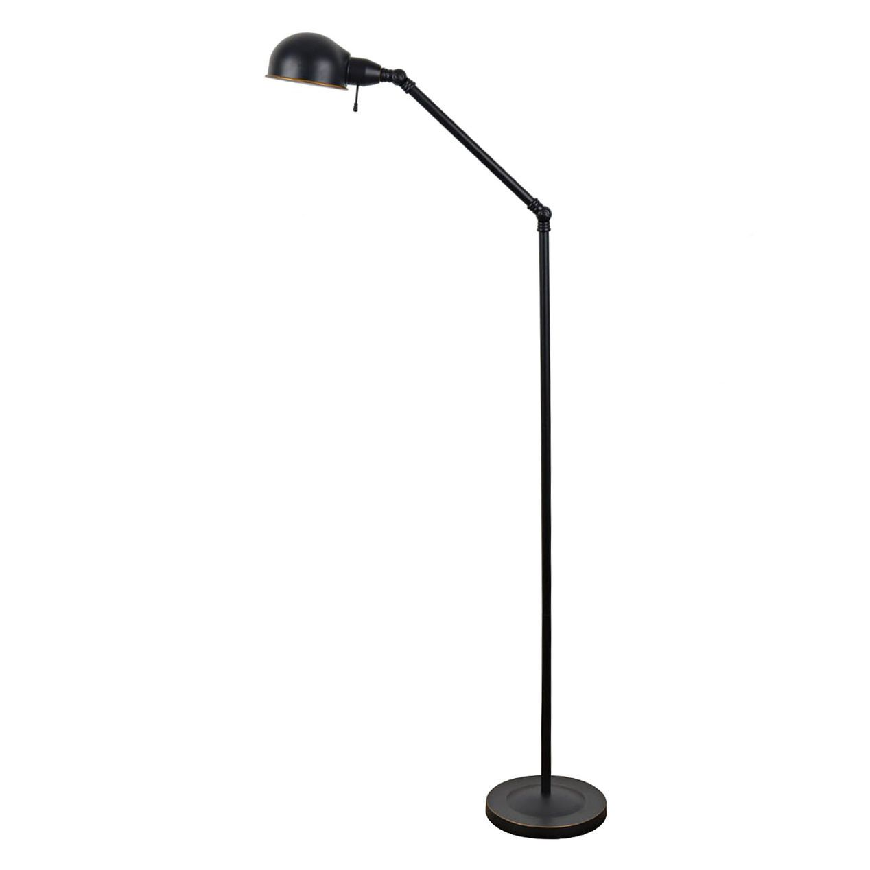 Metal Black Task Floor Lamp