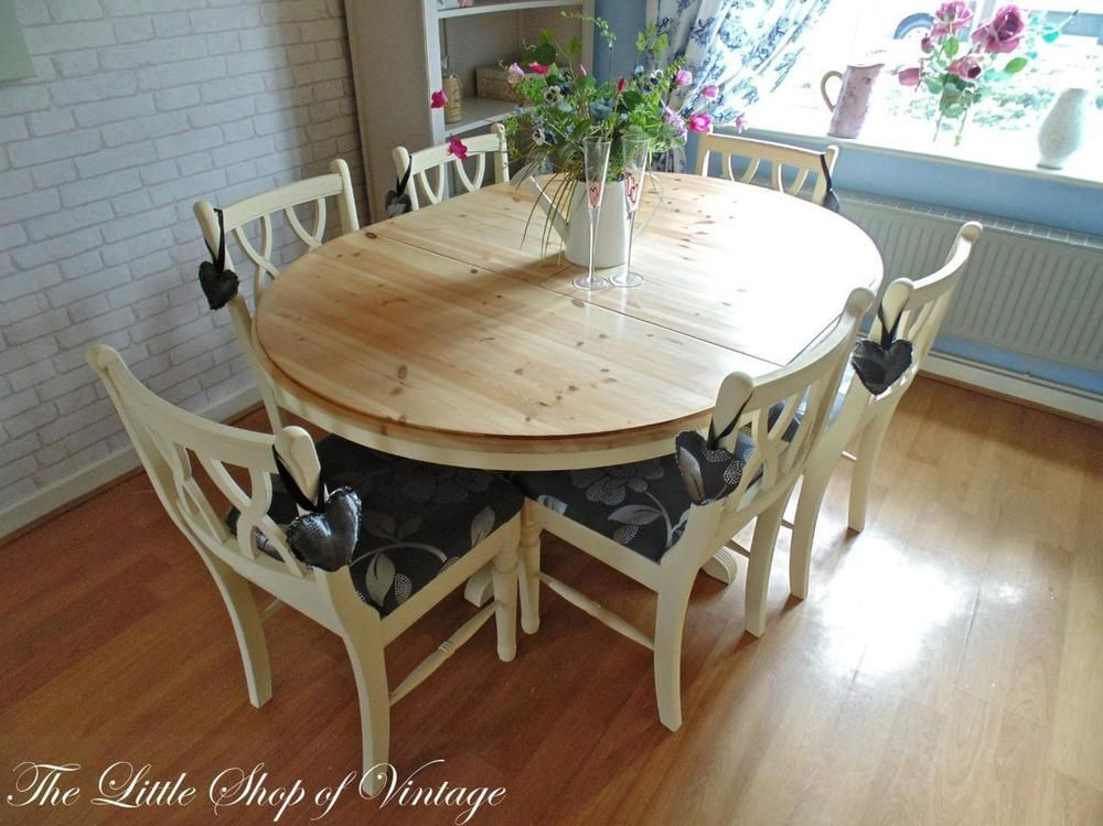 Magnificent Ducal Solid Pine Extendable Kitchen Dining Table And 6 Short Links Chair Design For Home Short Linksinfo