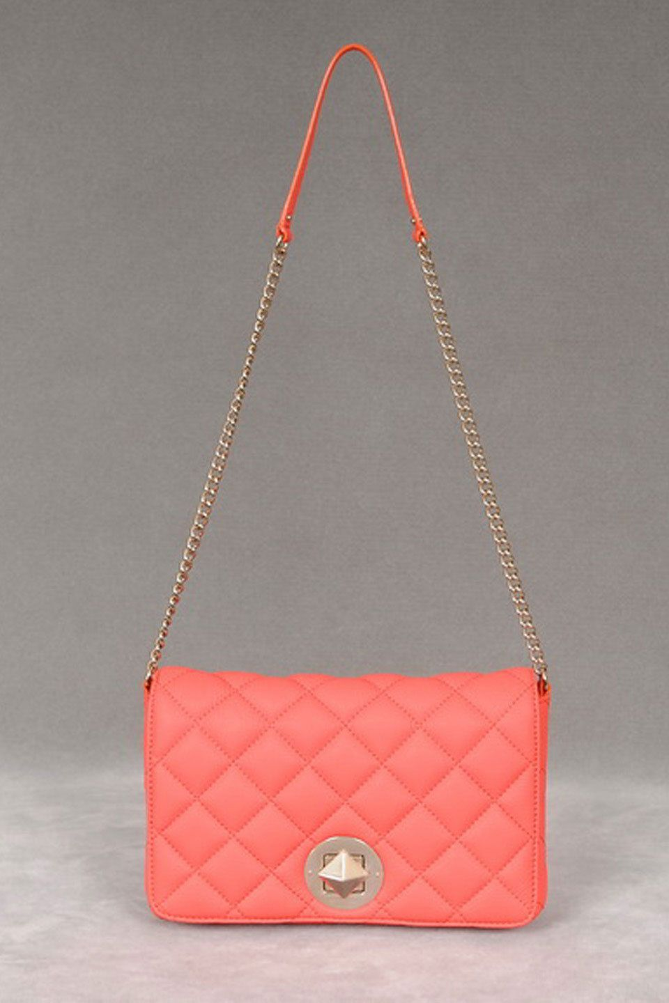 Kate Spade Gold Coast Meadow Flap Bag In Flo Coral - Beyond the Rack