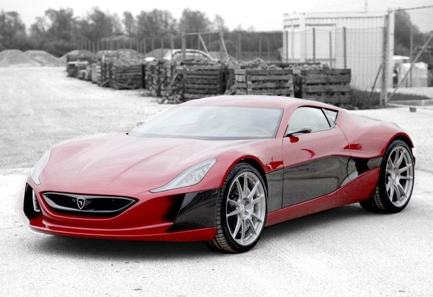 Rimac Concept_One: 0-60 in 2.8 seconds.  An electric car costing $980,000.