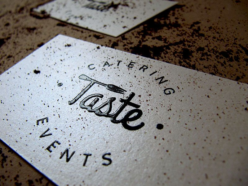 Taste Catering Logo & Business Cards | Catering logo, Catering and ...