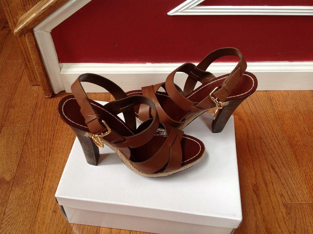 2222e895bf243 BCB Girls Leather Brown Heels Women s Shoes Size 8.5M New  BCBGirls   PlatformsWedges