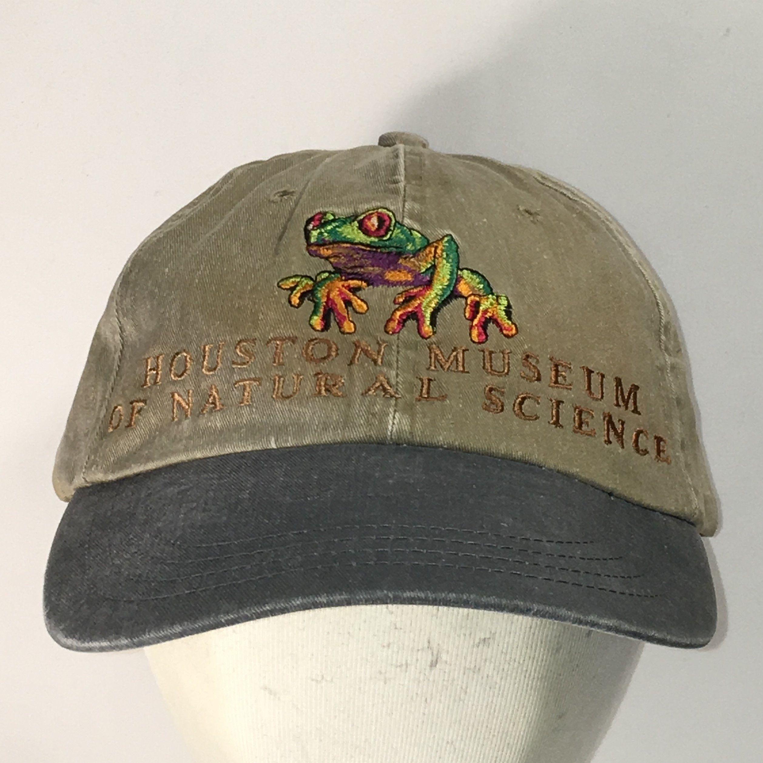 1f458087c3787 Houston Museum of Natural Science Baseball Cap Colorful Frog Hats For Men  Strapback Dad Hat Khaki Beige Gray Vintage Mens Caps T16 A9023  Frog   FrogHat ...