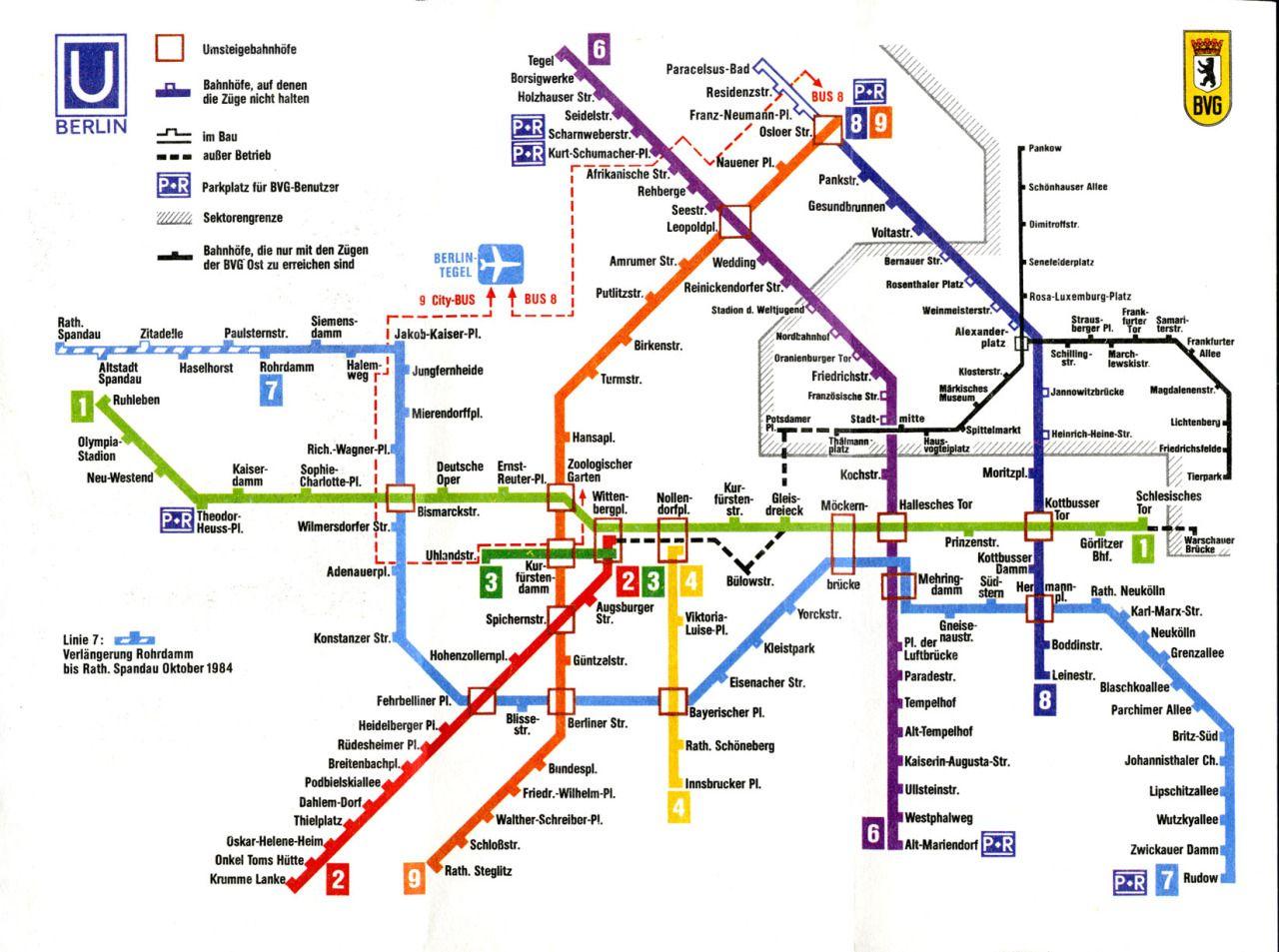 Chrisjohndewitt Train Map West Berlin Metro Map