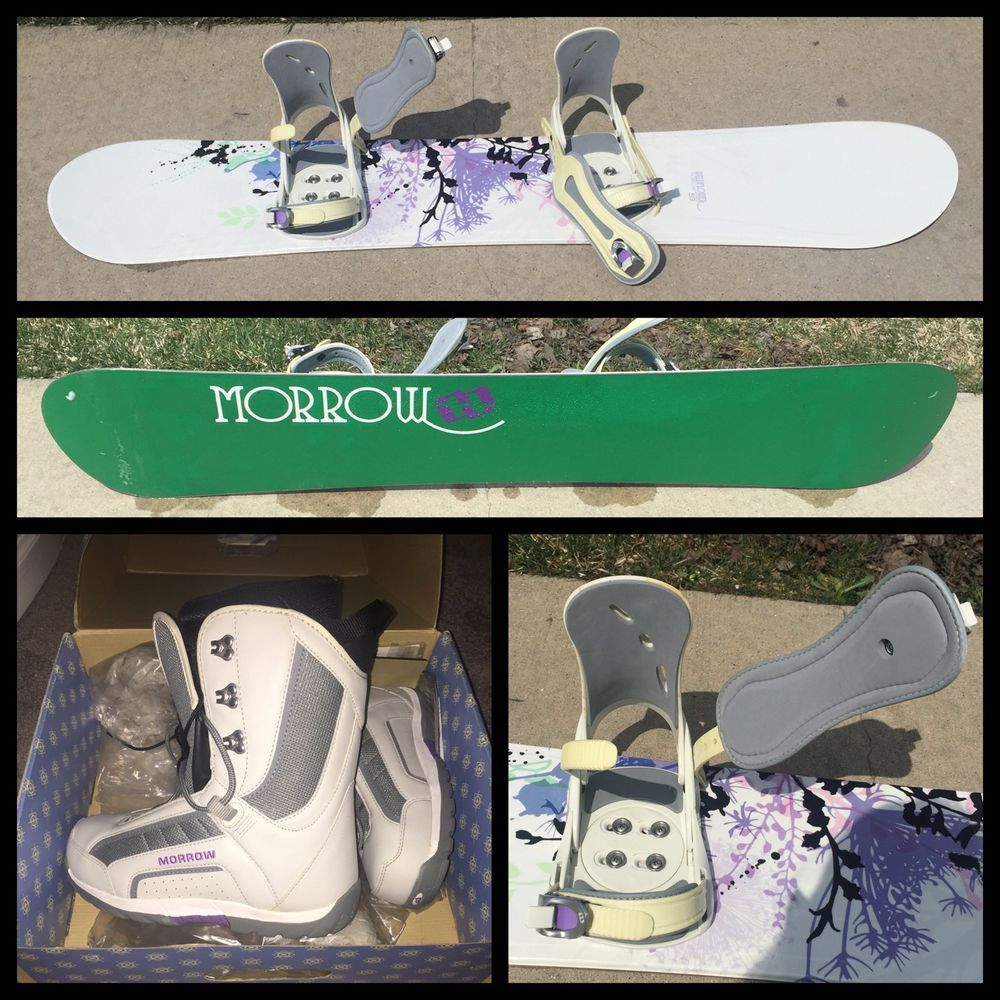 NEW Morrow Wildflower Snowboard, Boots And Bindings