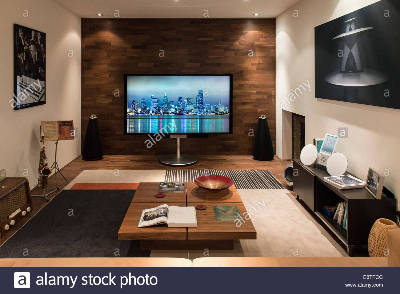 Download This Stock Image Listening Room At A High End Hi Fi Music Sound System Technology Store All Laid Out To Be A Show L Listening Room Room Tv Wall Unit #sound #system #living #room