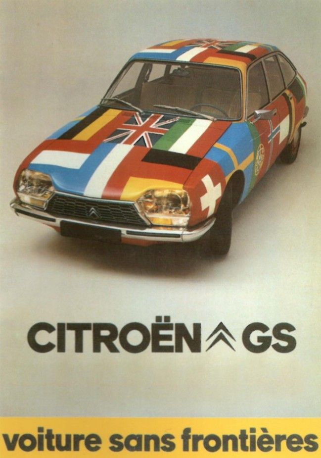 citroen gs ad voiture sans frontieres citroen. Black Bedroom Furniture Sets. Home Design Ideas