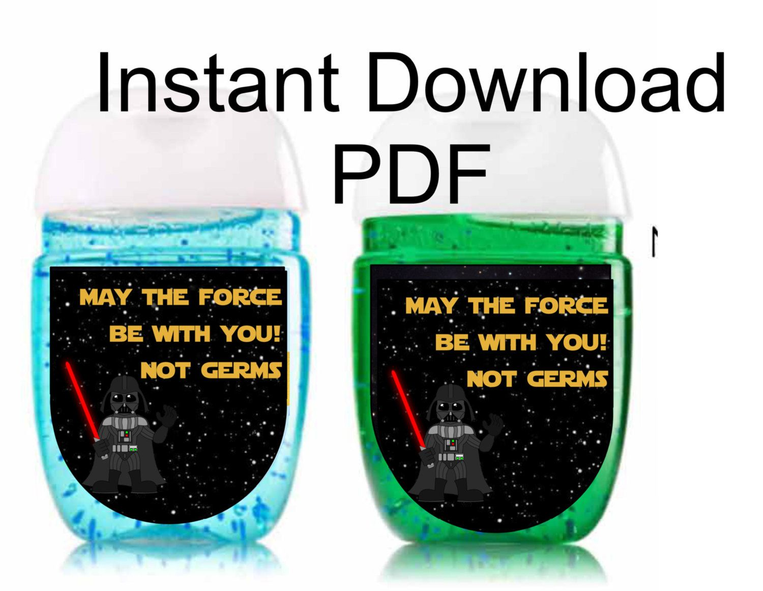 Darth Vader Star Wars May The Force Be With You Sanitizer Labels