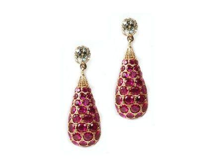 18ct Gold Diamond Ruby Drop Earrings 11 20ct Http