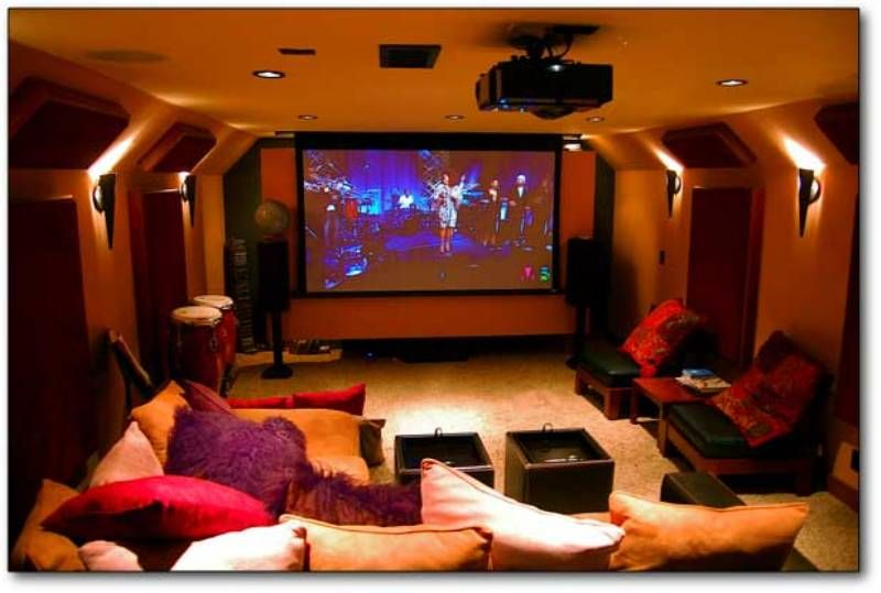 Mini Cinema In Smart Home Technology Home Theater Installation