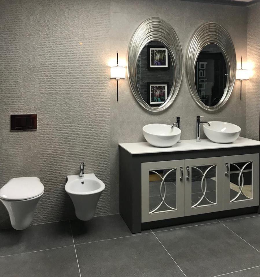 Josef Martin Vanity Unit Round Mirror Bathroom Bathroom Suites Vanity Units